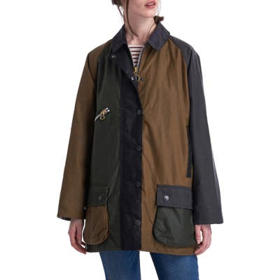 Barbour X Alexachung Patch Weatherproof Waxed Cotton Utility Jacket, US / 10 UK - Green