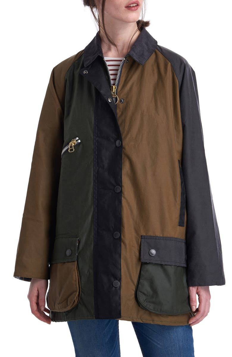 Barbour X ALEXACHUNG Patch Weatherproof Waxed Cotton Utility Jacket