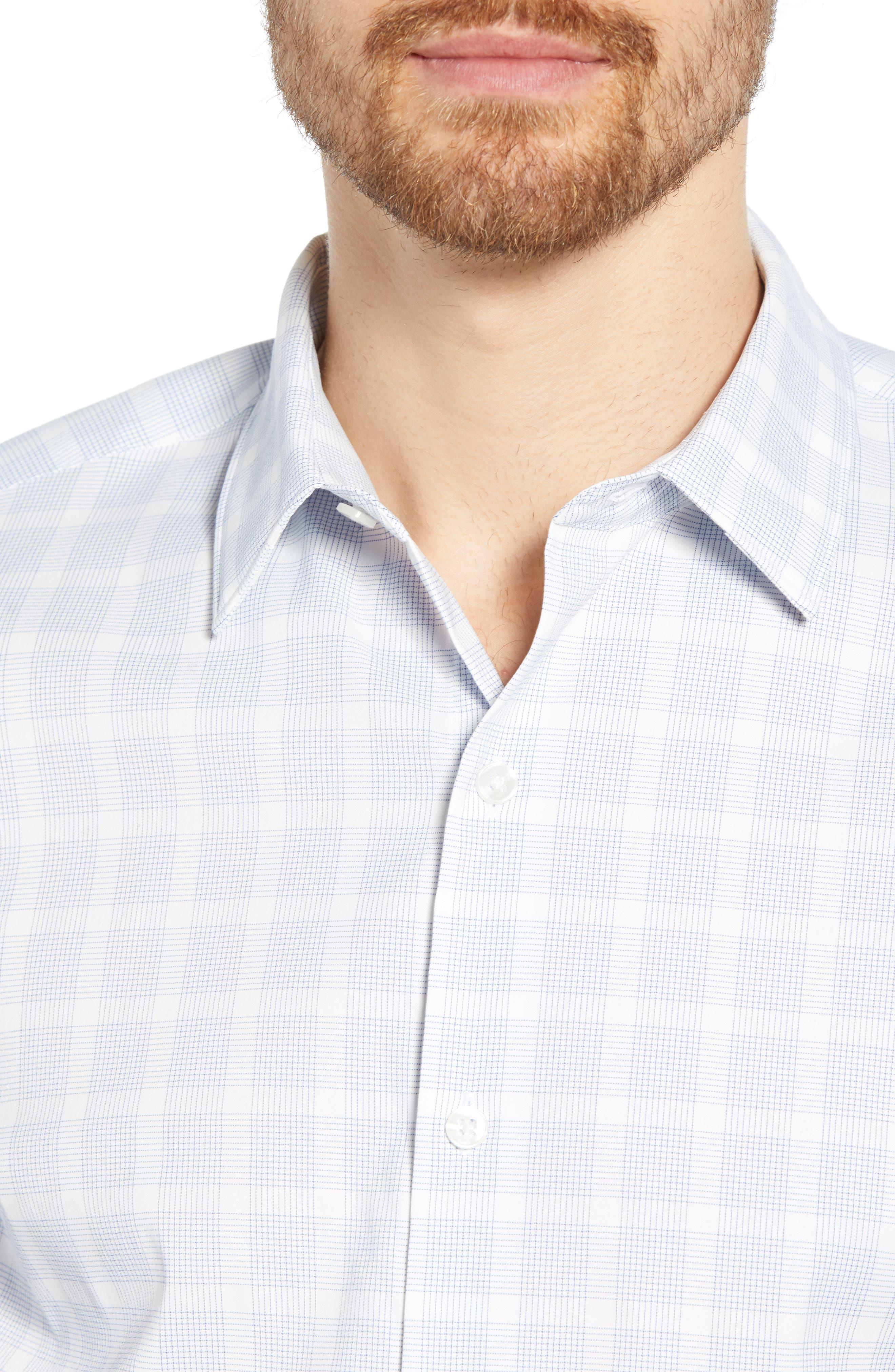 ,                             Slim Fit Check Tech Sport Shirt,                             Alternate thumbnail 2, color,                             MIGUEL CHECK AZUL