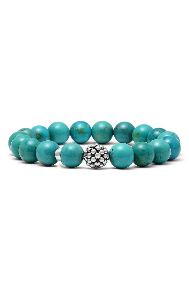 LAGOS Bead Stretch Bracelet, Main, color, TURQUOISE