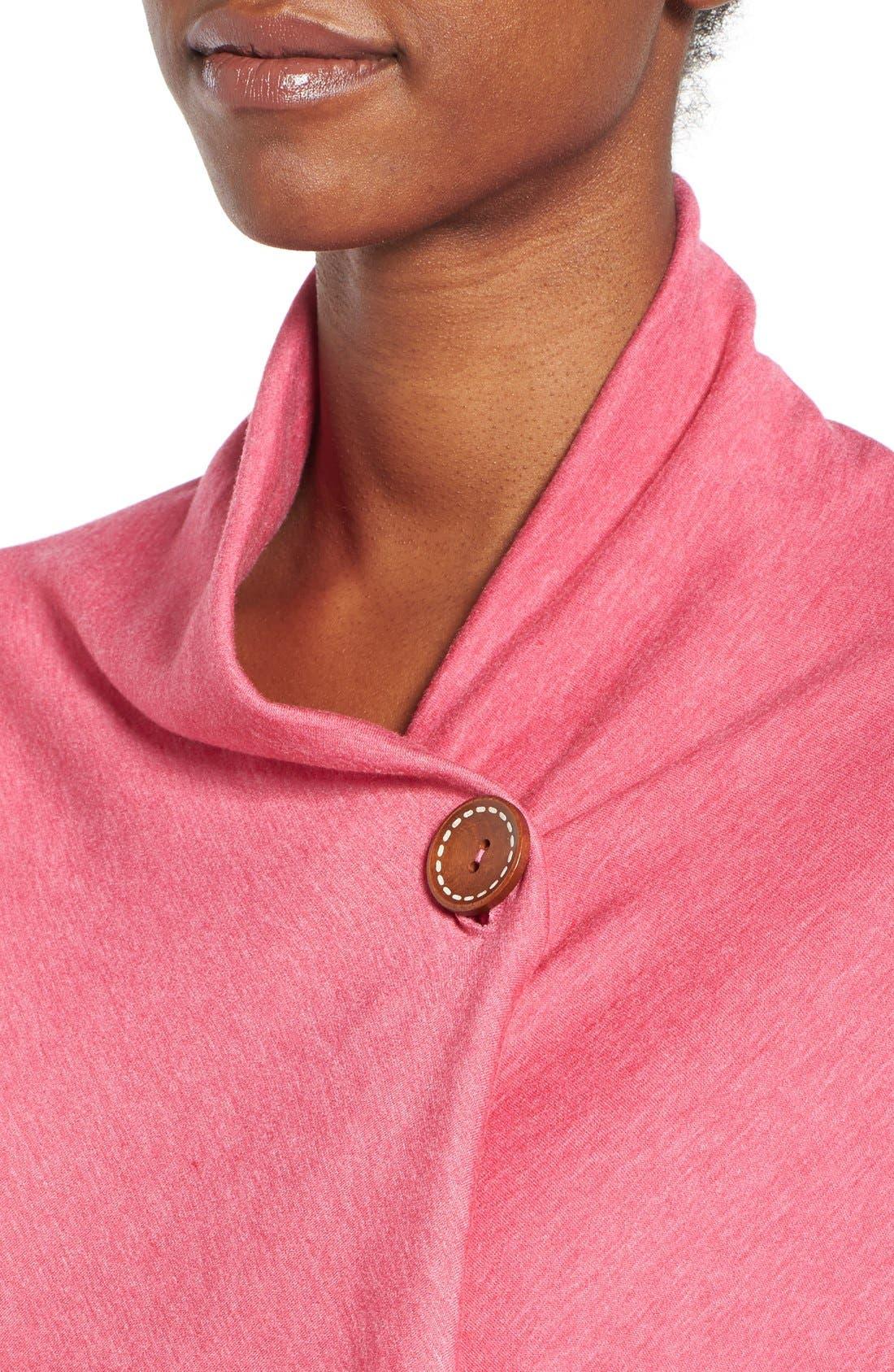 ,                             One-Button Fleece Wrap Cardigan,                             Alternate thumbnail 208, color,                             666