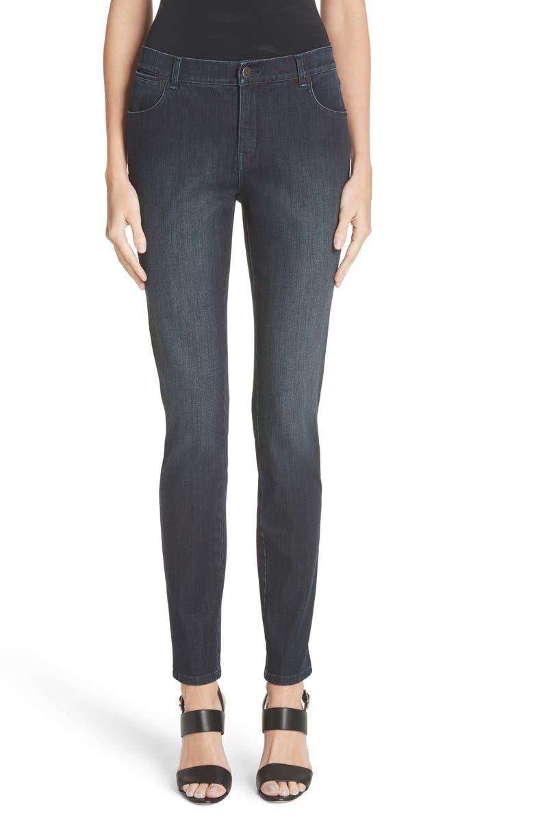 LAFAYETTE 148 NEW YORK Mercer Skinny Jeans, Main, color, INDIGO