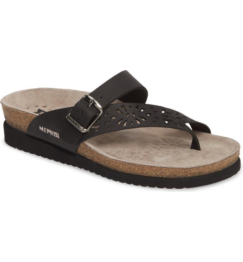 MEPHISTO Helen Perf Slide Sandal, Main, color, 002