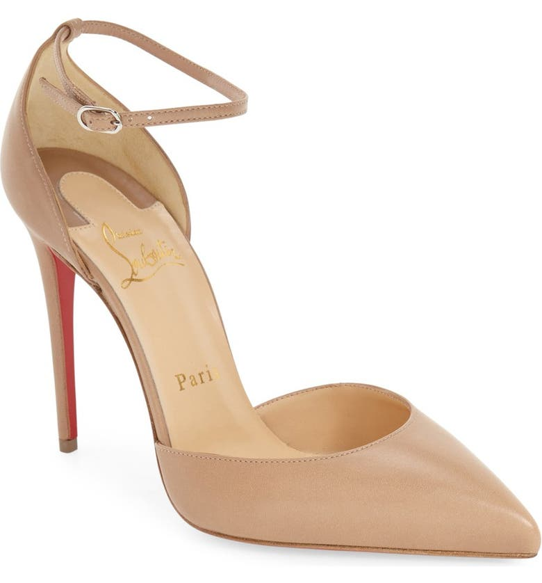 CHRISTIAN LOUBOUTIN Uptown Ankle Strap Pointy Toe Pump, Main, color, 250