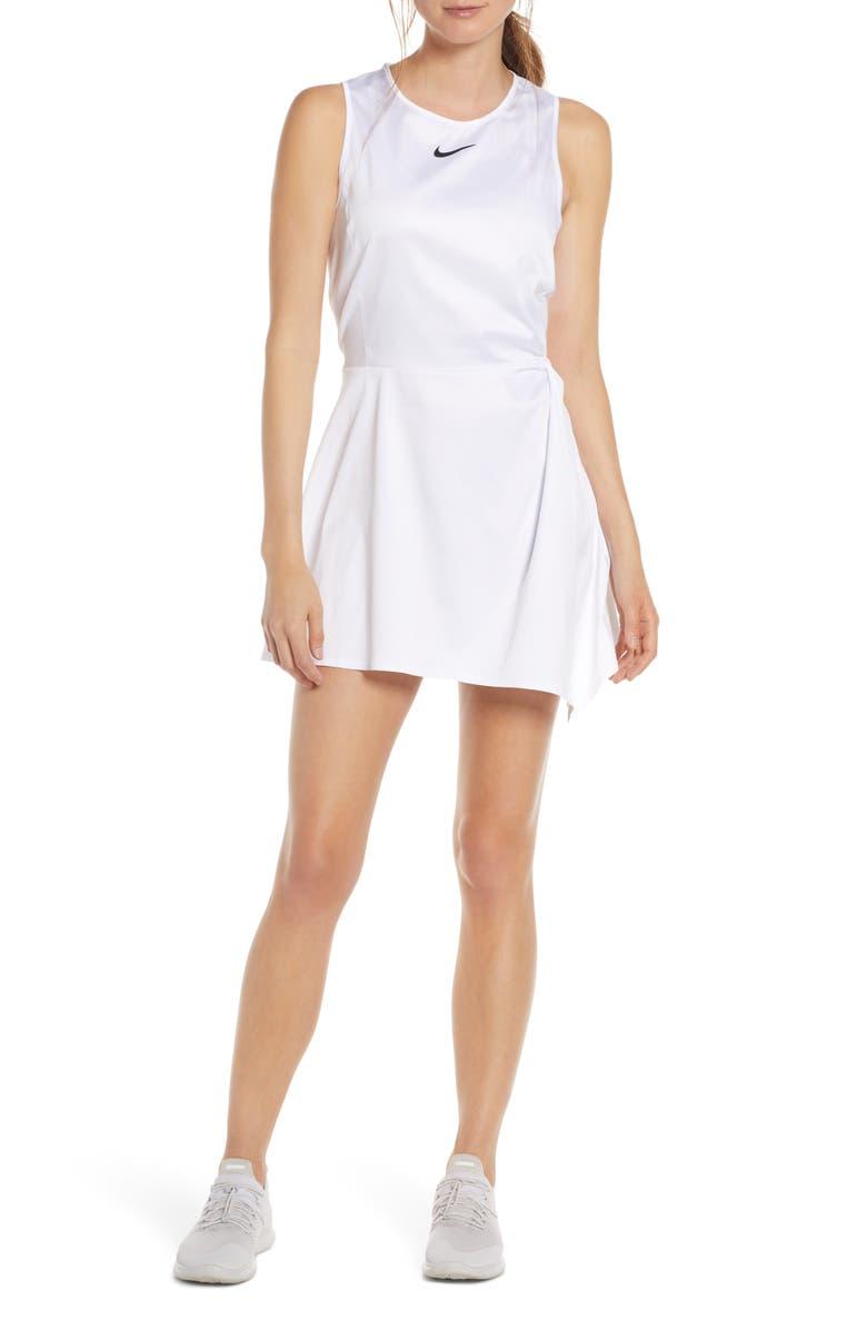 NIKE Maria Dri-FIT Tennis Dress, Main, color, 100