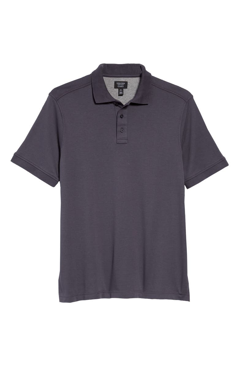 NORDSTROM MEN'S SHOP Regular Fit Interlock Polo, Main, color, 021