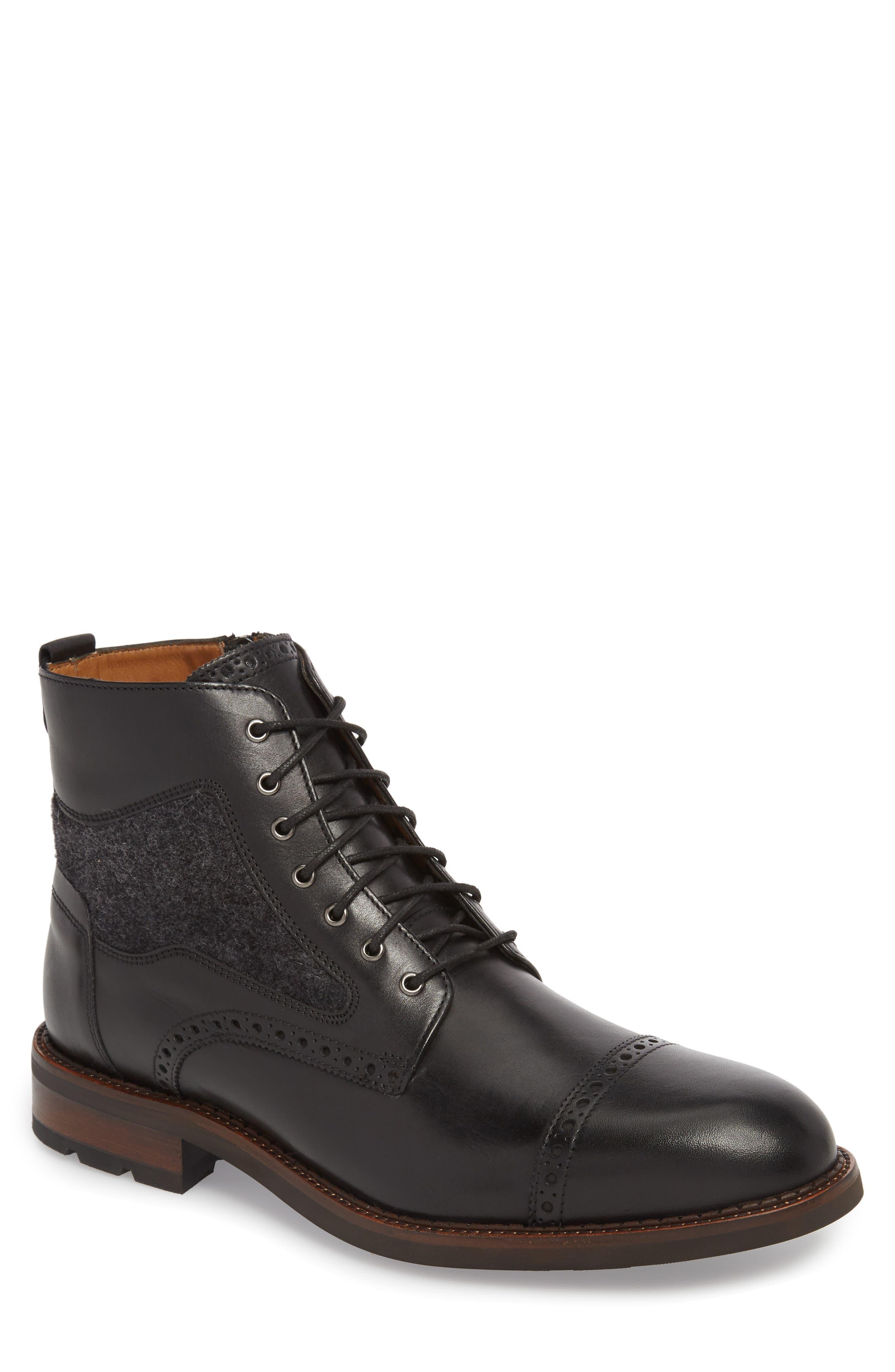 J & m 1850 Fullerton Zip Boot- Black