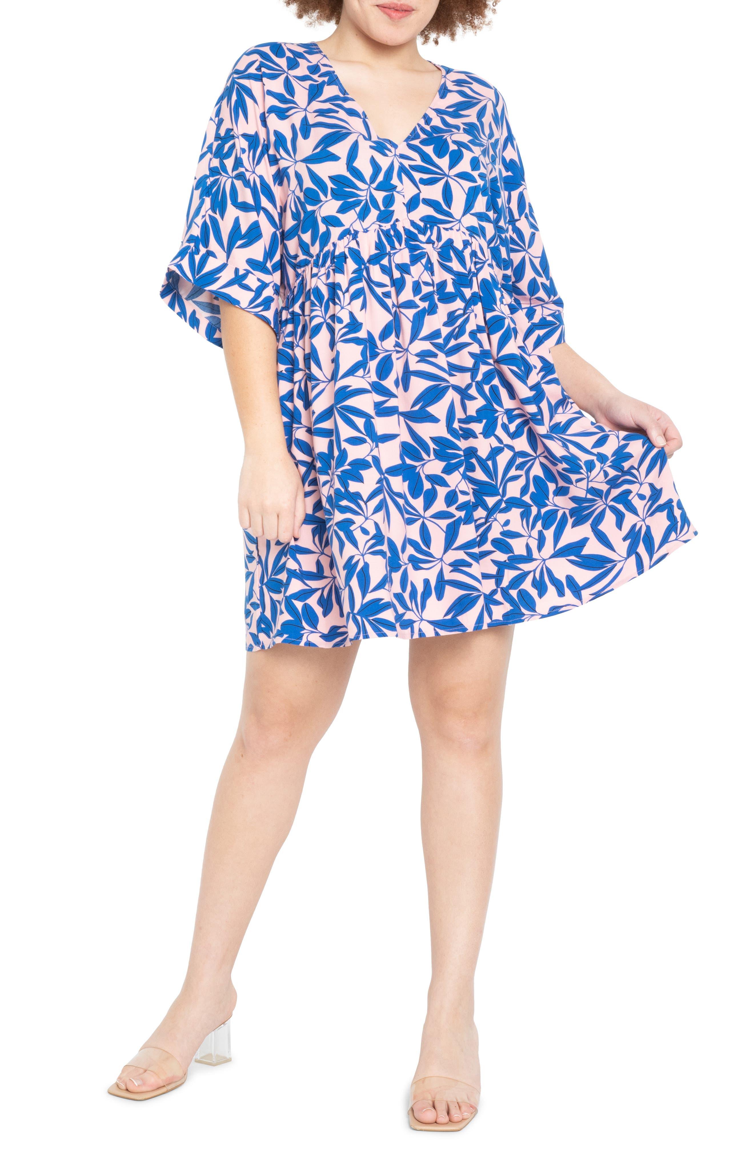 Empire Bell Sleeve Swing Dress