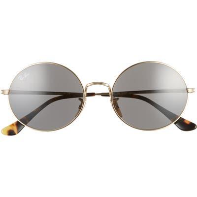 Ray-Ban 5m Round Sunglasses - Gold/ Dark Grey Solid