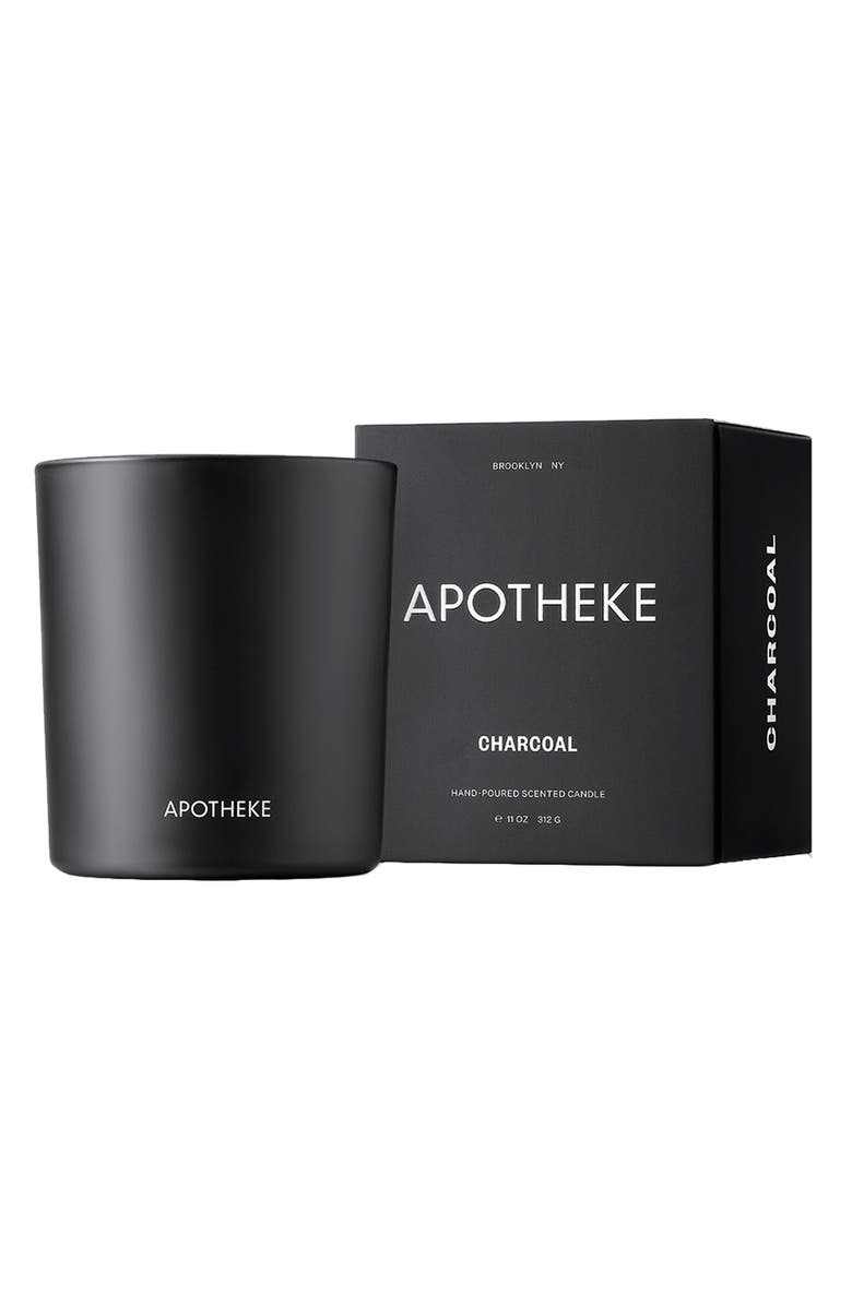 APOTHEKE Signature Charcoal Candle, Main, color, CHARCOAL
