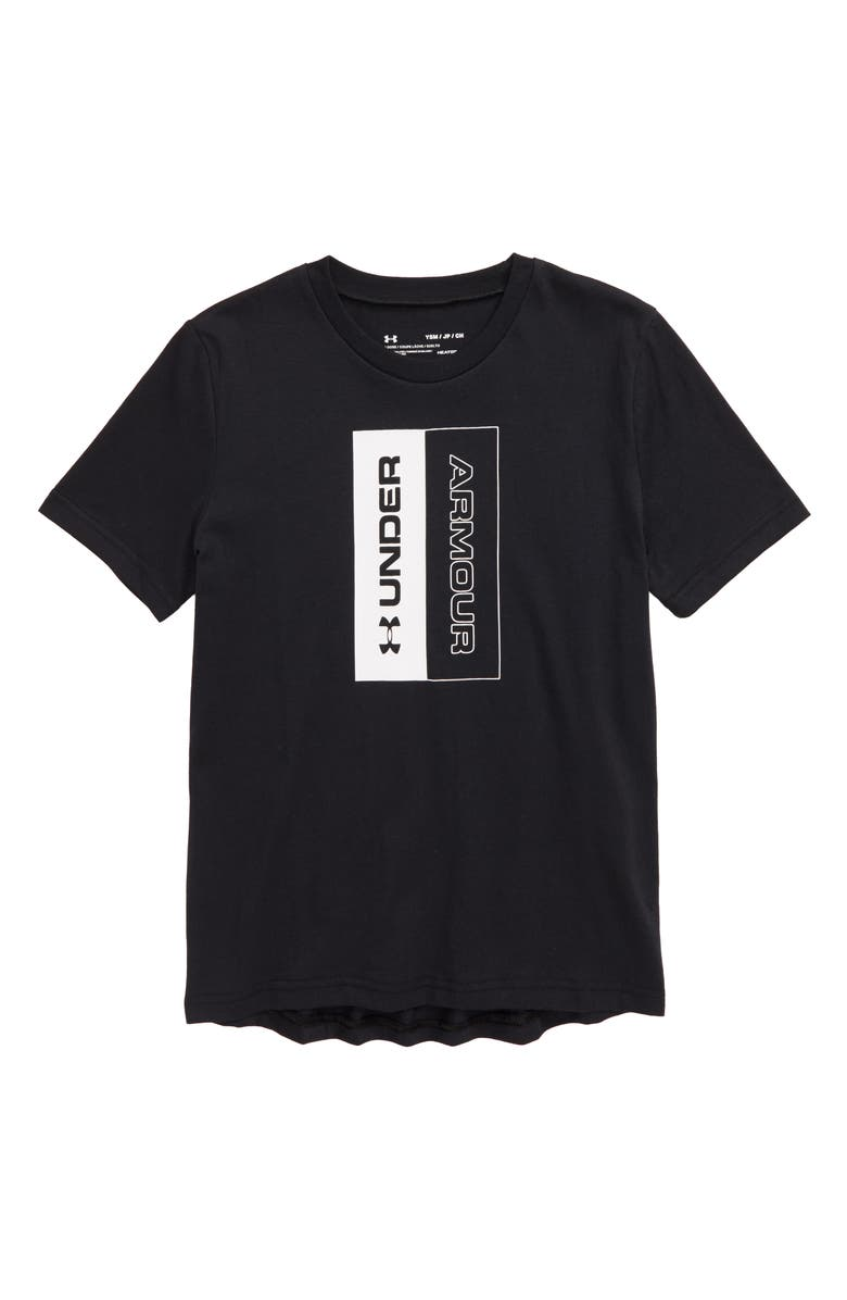 UNDER ARMOUR Unstoppable Logo Graphic T-Shirt, Main, color, BLACK/ WHITE