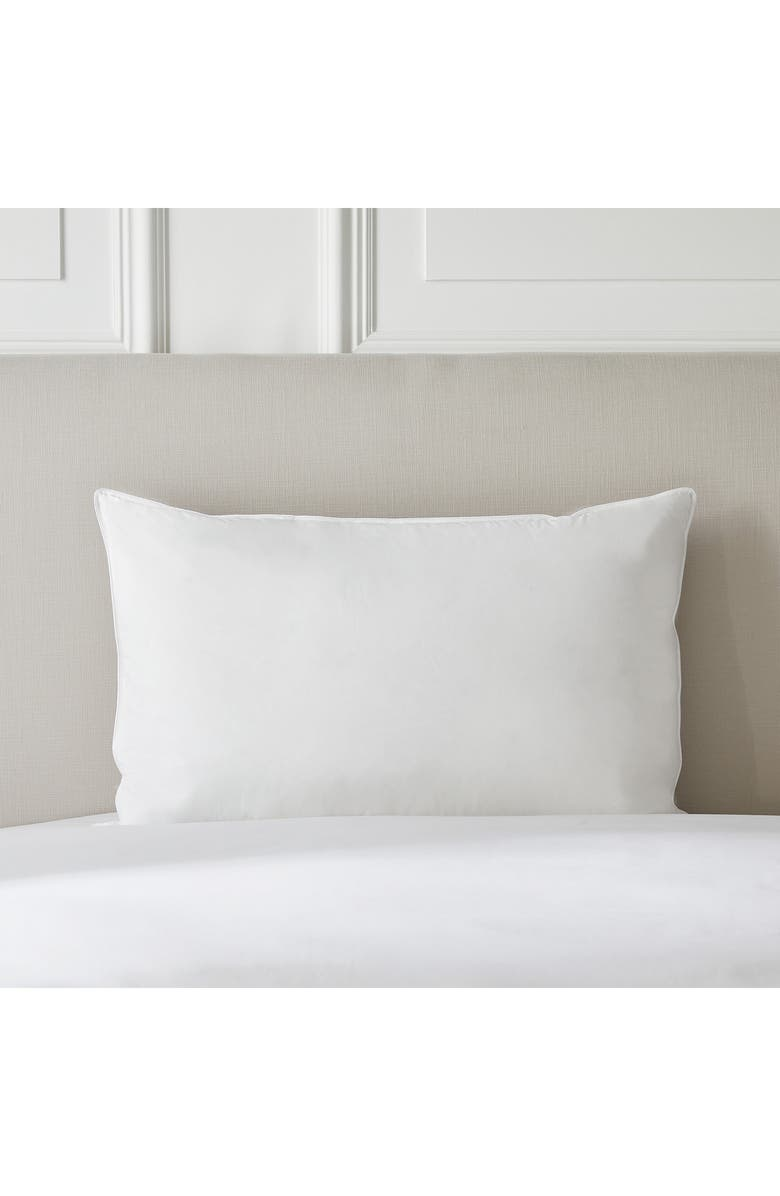 THE WHITE COMPANY Ultimate Symons Medium Firm Down Pillow, Main, color, 100