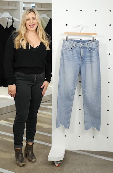 Nina High Waist Crop Cigarette Jeans, sales video thumbnail