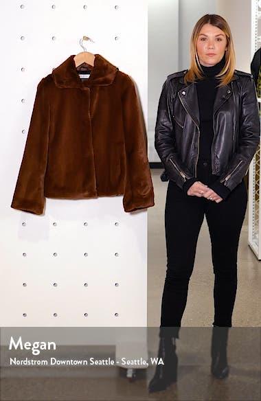 Crop Faux Fur Jacket, sales video thumbnail