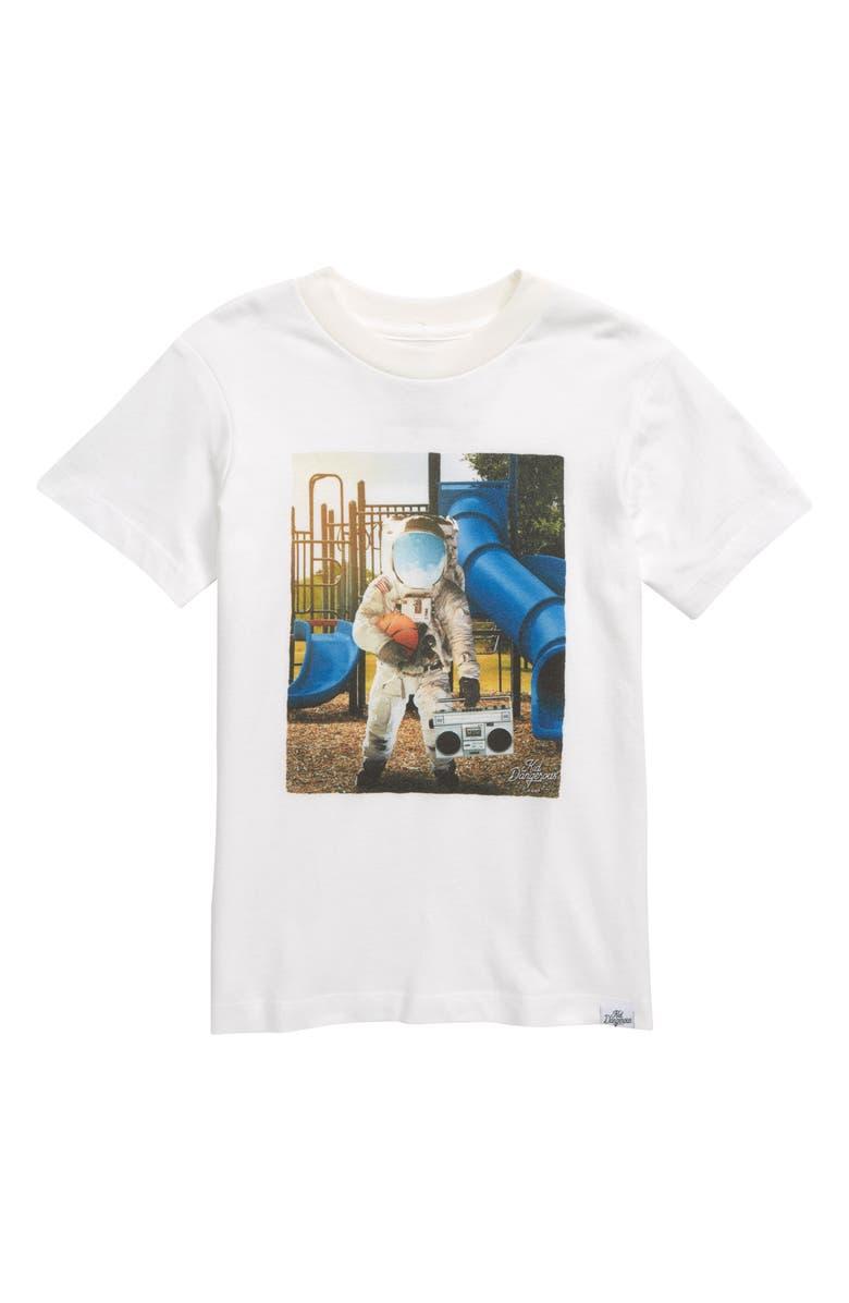 KID DANGEROUS Astro Playground Graphic Tee, Main, color, WHITE