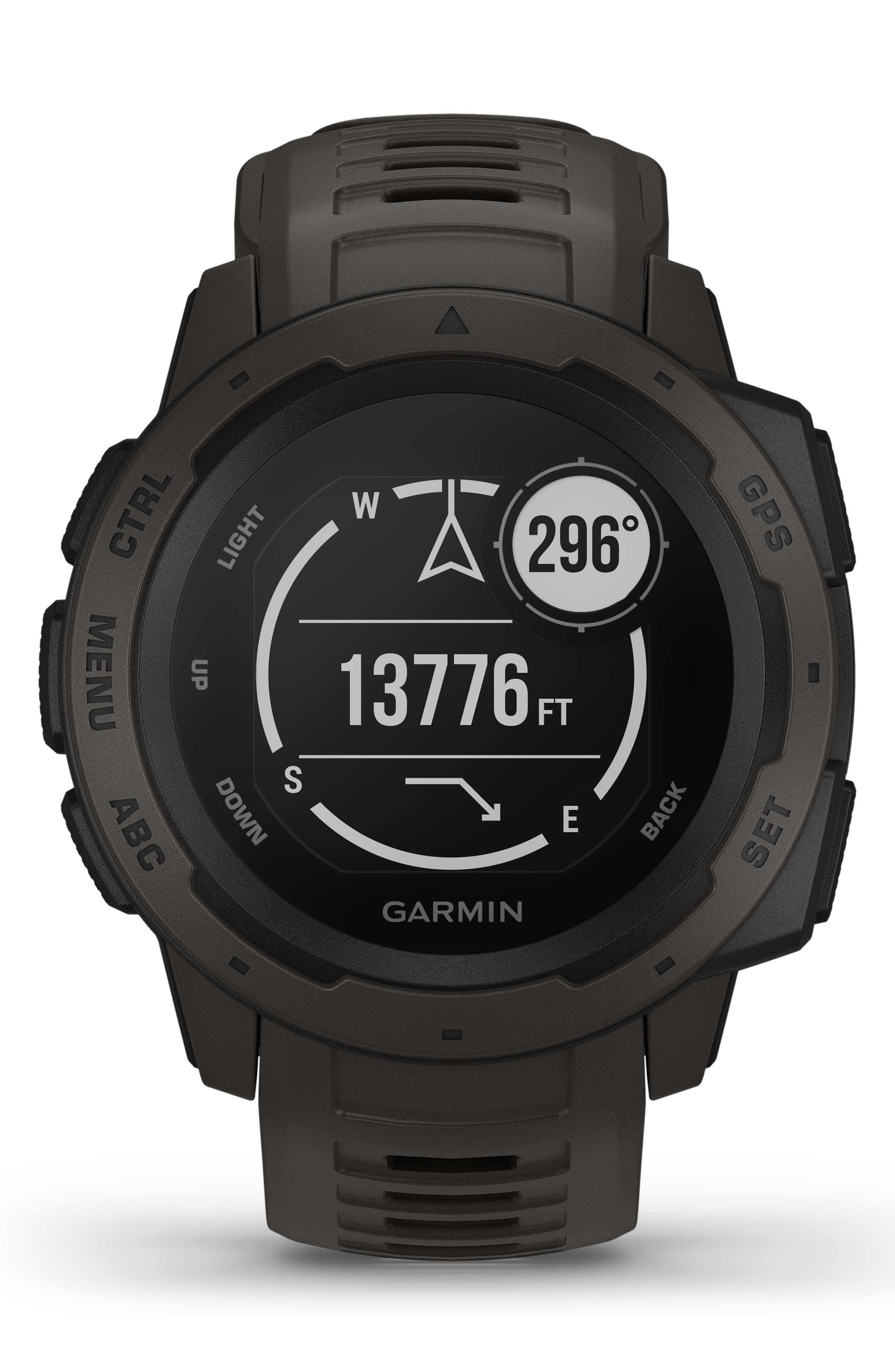 ,                             Instinct<sup>™</sup> Outdoor GPS Watch, 45mm,                             Alternate thumbnail 8, color,                             GRAPHITE