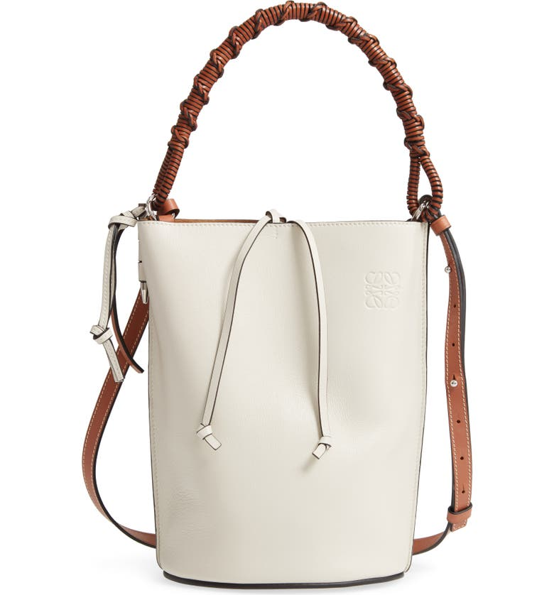 LOEWE Gate Leather Bucket Bag, Main, color, 900