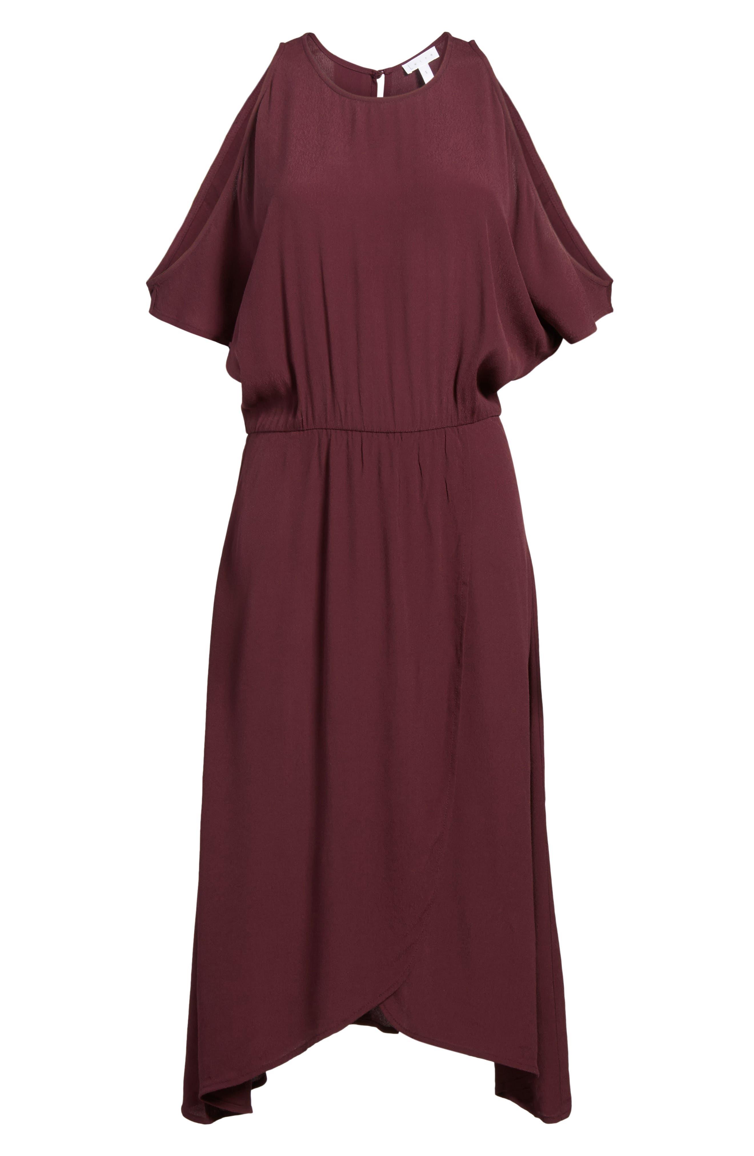 ,                             Cold Shoulder Midi Dress,                             Alternate thumbnail 19, color,                             930