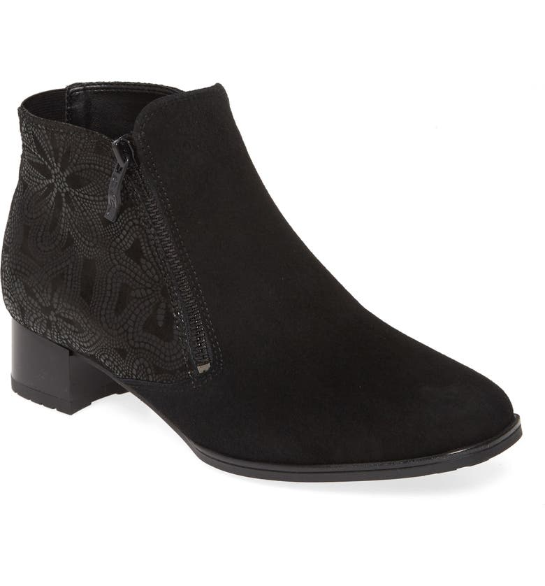 ARA Geraldine Bootie, Main, color, BLACK PATENT LEATHER