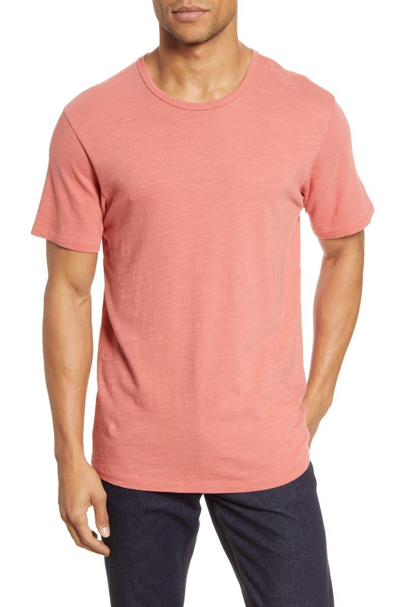RAG & BONE Slim Fit Slubbed Cotton T-Shirt, Main, color, DUSTY ROSE