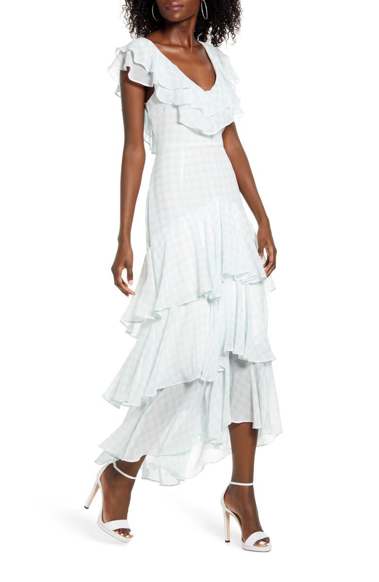 WAYF Chelsea Tiered Ruffle Maxi Dress, Main, color, 437