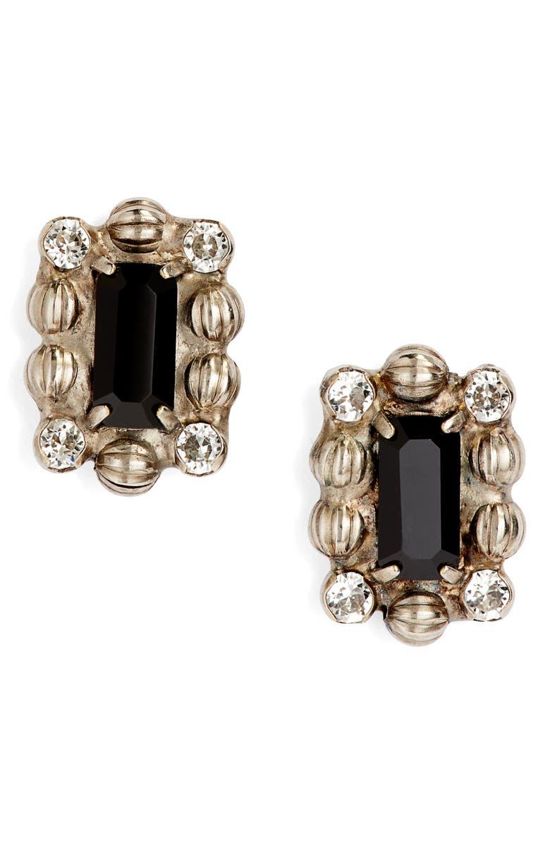 SORRELLI Crystal & Ball Chain Stud Earrings, Main, color, 001