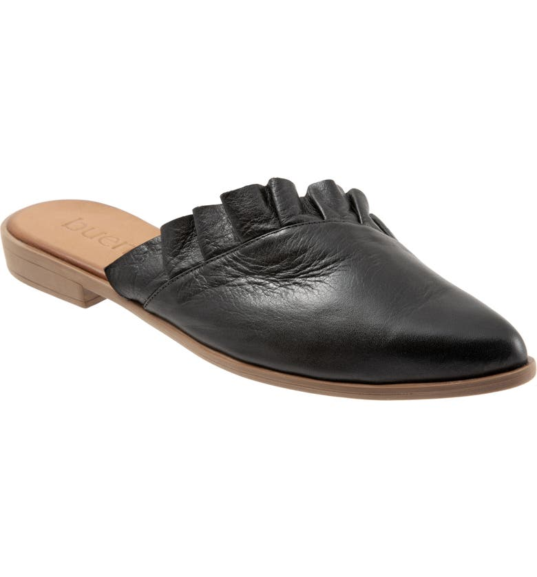 BUENO Bess Mule, Main, color, BLACK LEATHER