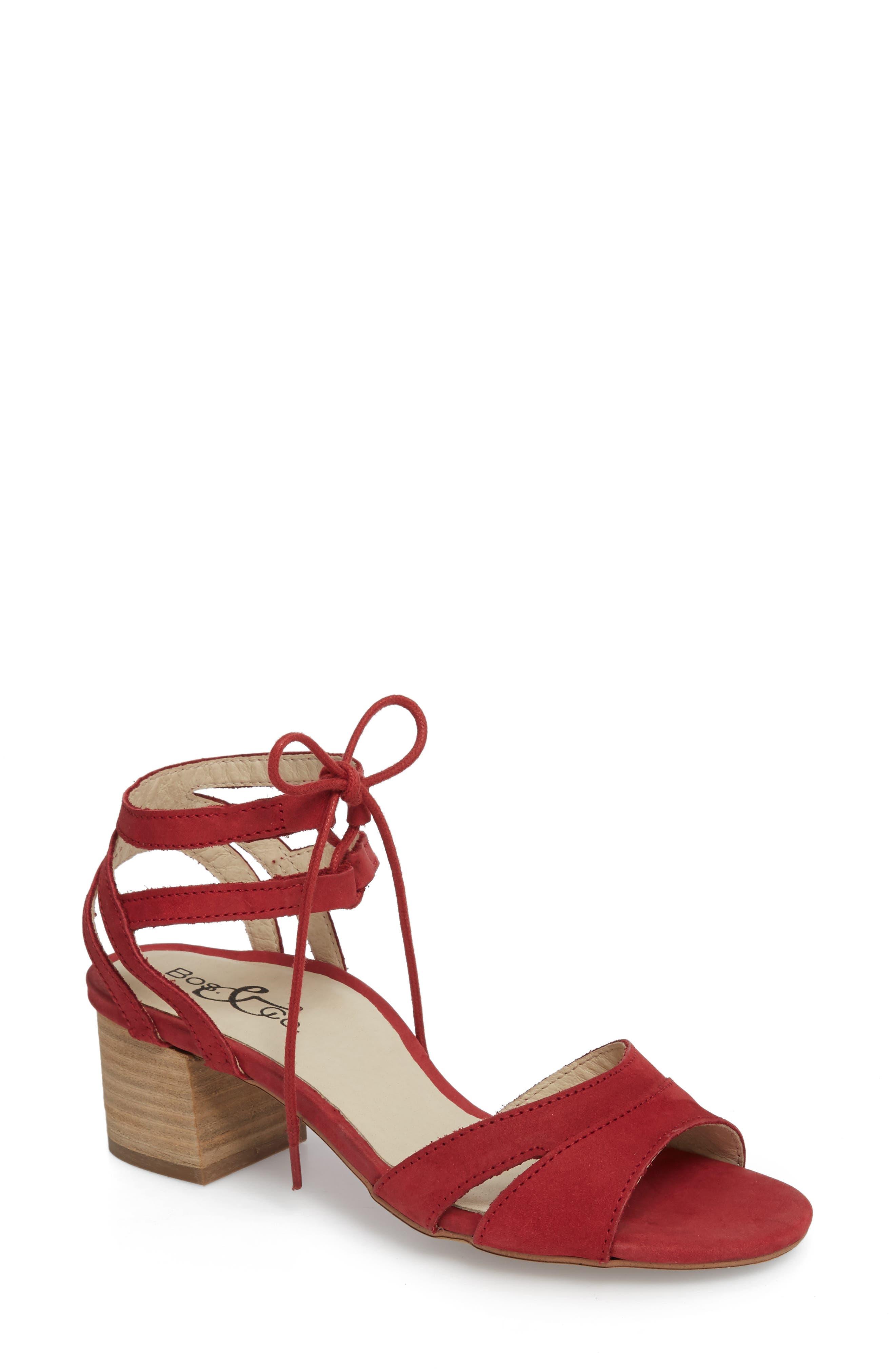 Bos. & Co. Zorita Sandal, Red