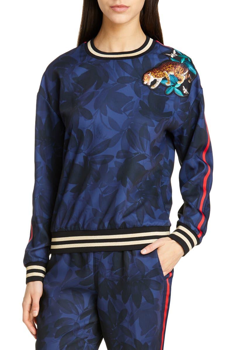 TED BAKER LONDON Jintifa Houdini Embroidered Sweatshirt, Main, color, 410