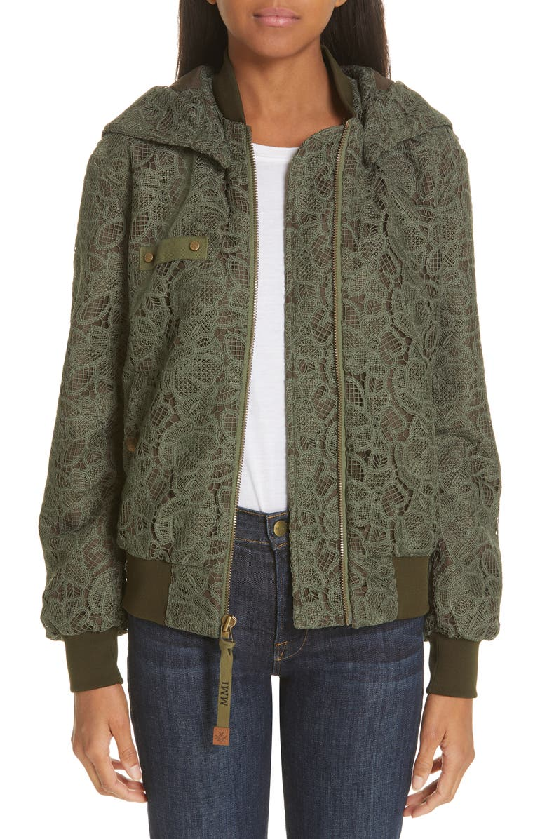 MR & MRS ITALY Lace Bomber Jacket, Main, color, 300