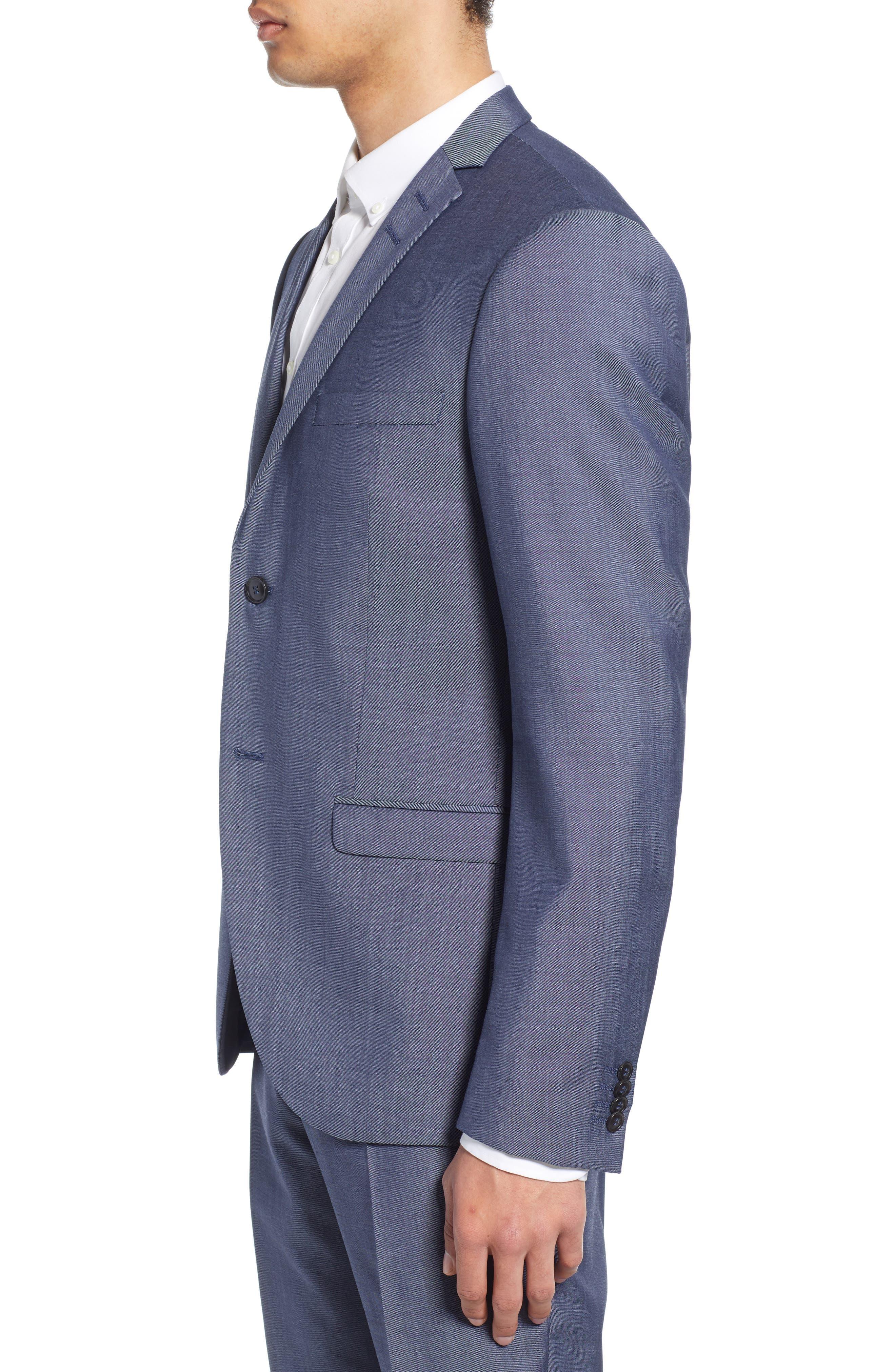 ,                             Jile Trim Fit Solid Wool Blazer,                             Alternate thumbnail 4, color,                             SOFT BLUE