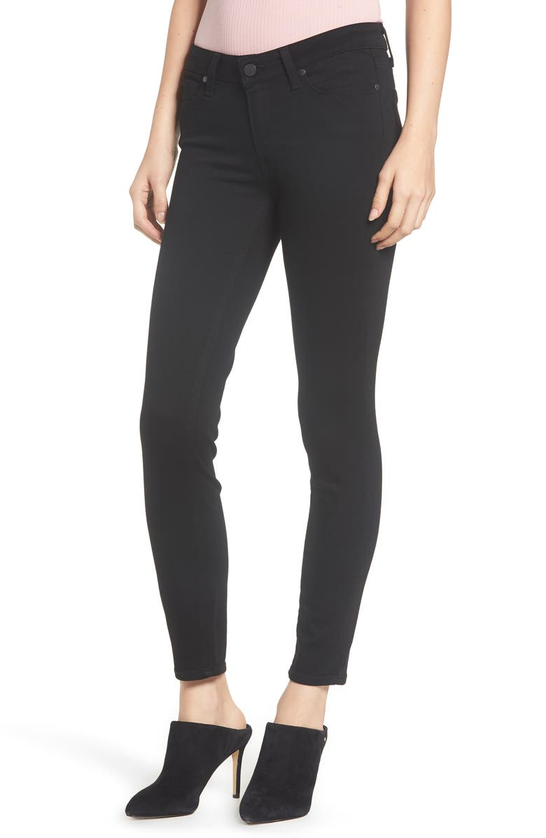 PAIGE Transcend - Verdugo Ankle Ultra Skinny Jeans, Main, color, BLACK SHADOW