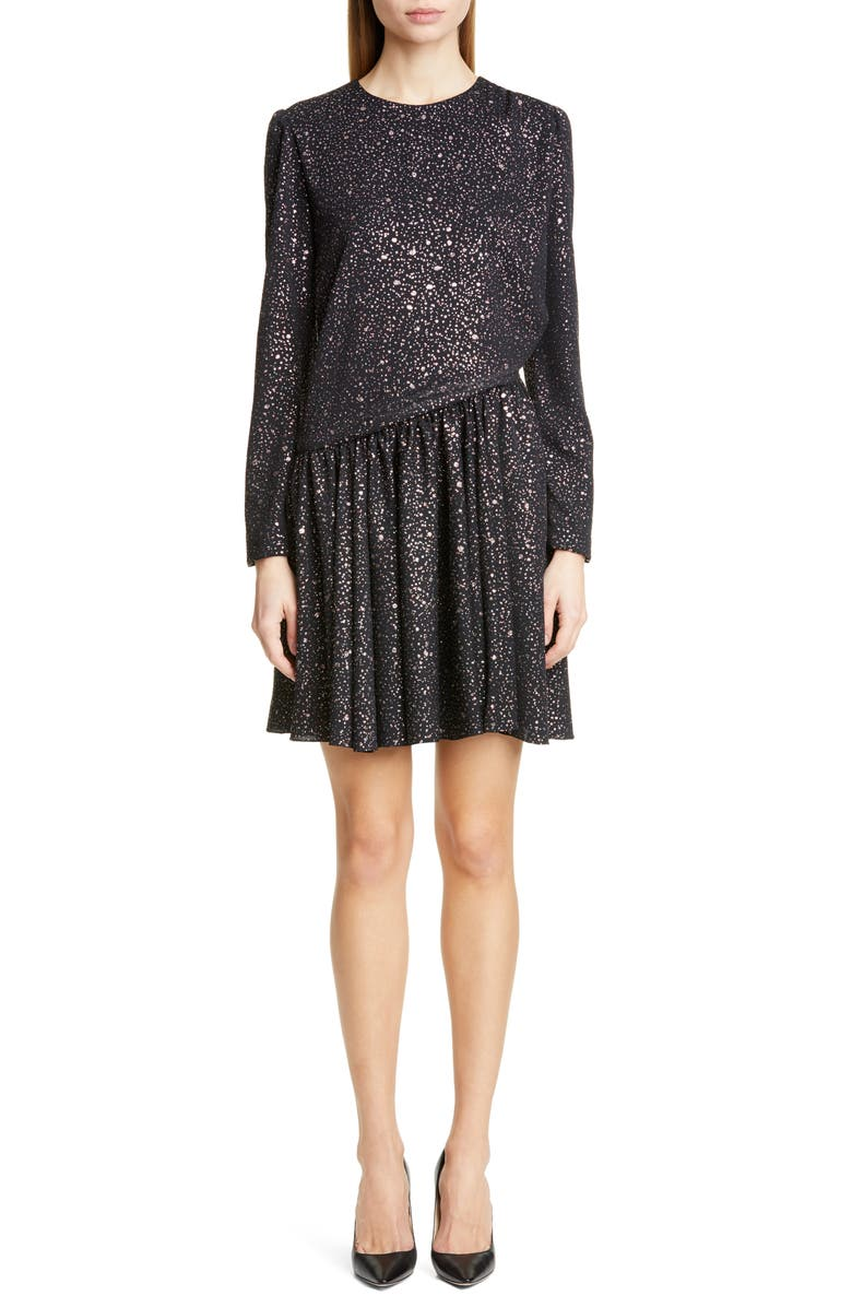 Sies Marjan Milou Glitter Long Sleeve Minidress