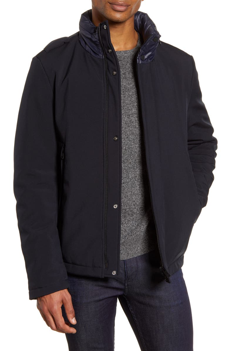 ZACHARY PRELL Aiden Water Resistant Jacket, Main, color, NAVY