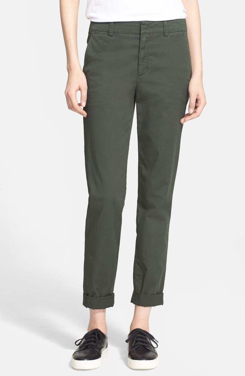VINCE Boyfriend Trousers, Main, color, 302