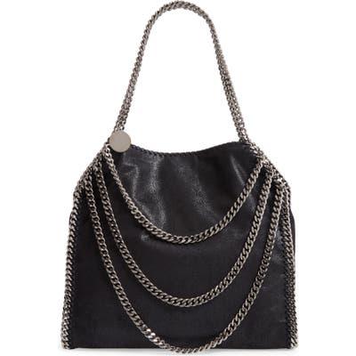 Stella Mccartney Small Falabella Shaggy Deer Faux Leather Shoulder Bag - Black