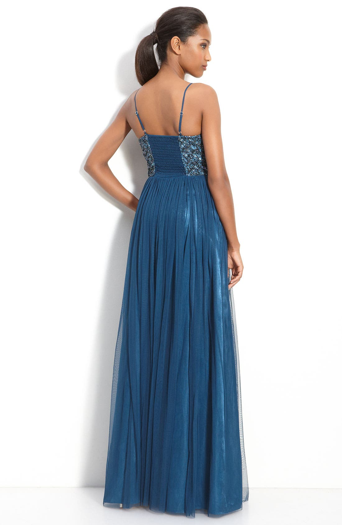 ,                             Jeweled Tulle Gown,                             Alternate thumbnail 2, color,                             433