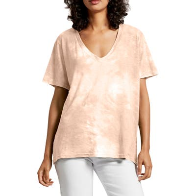 Michael Stars Rosie V-Neck Tee, Size One Size - Pink