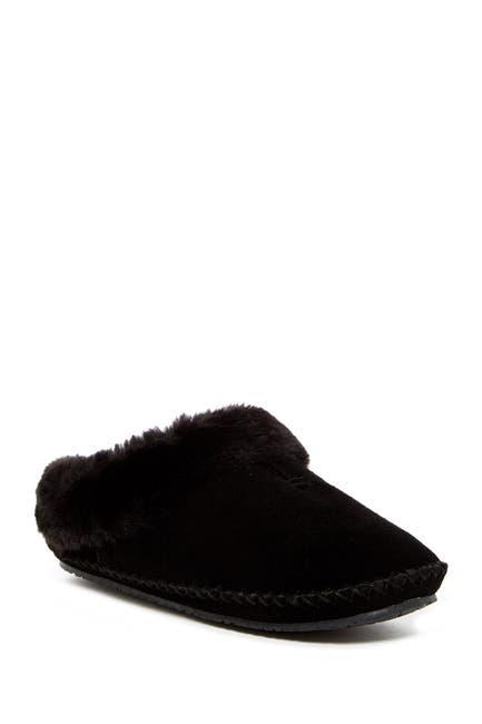 Image of Minnetonka Carolina Clog Faux Fur Lined Slipper