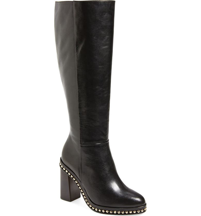 COACH 'Justina' Knee High Boot, Main, color, 001