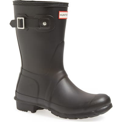 Hunter Original Short Waterproof Rain Boot, Black