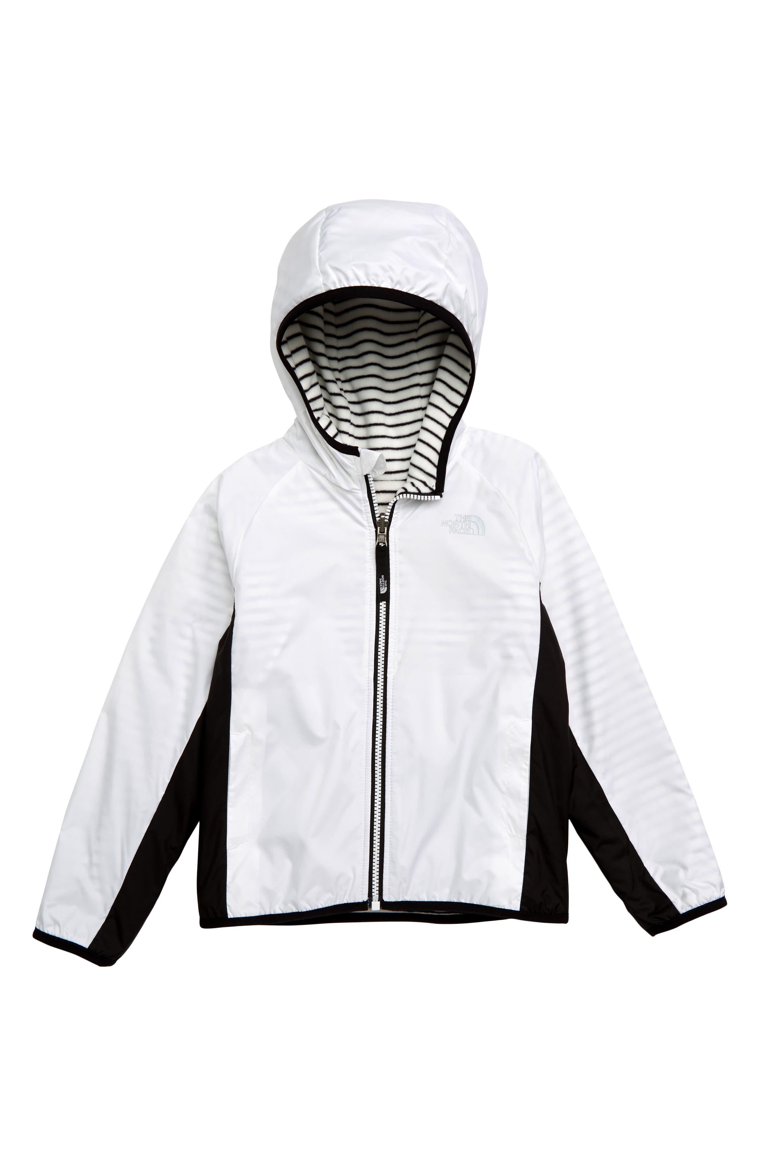 Breezeway Reversible Water Repellent Windproof Jacket, Main, color, TNF WHITE