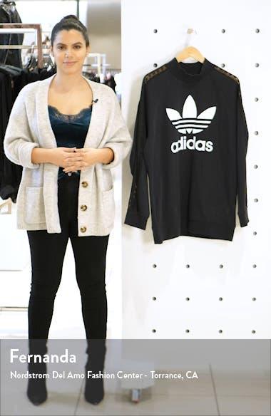 Lace Stripe Logo Cotton Sweatshirt, sales video thumbnail