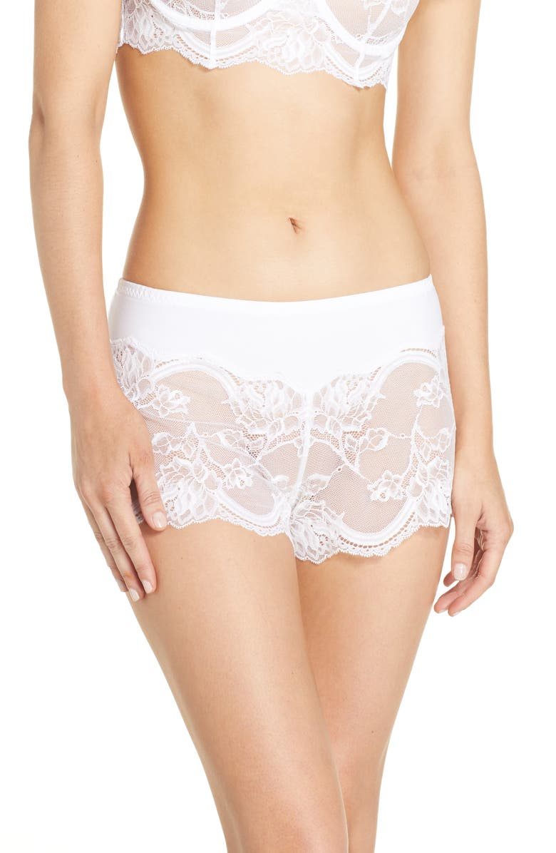 NATORI Vow Tap Pants, Main, color, WHITE