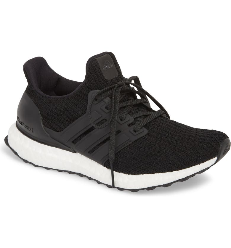 'UltraBoost' Running Shoe, Main, color, CORE BLACK/ CORE BLACK