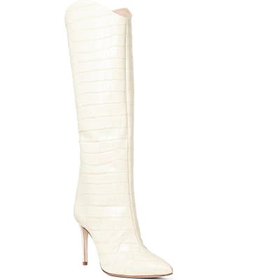 Schutz Maryana Pointy Toe Boot, White