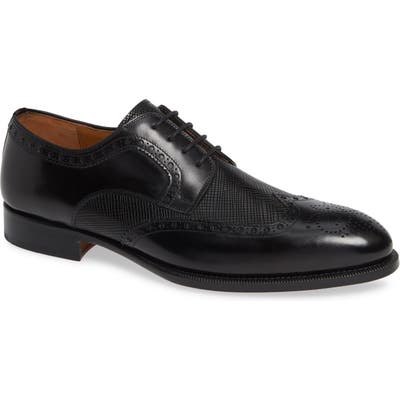 Magnanni Hampton Wingtip Oxford- Black