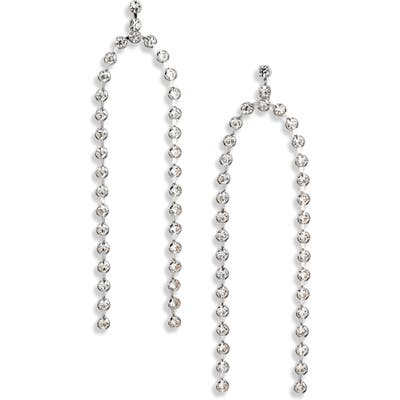 Cristabelle Crystal Double Row Drop Earrings