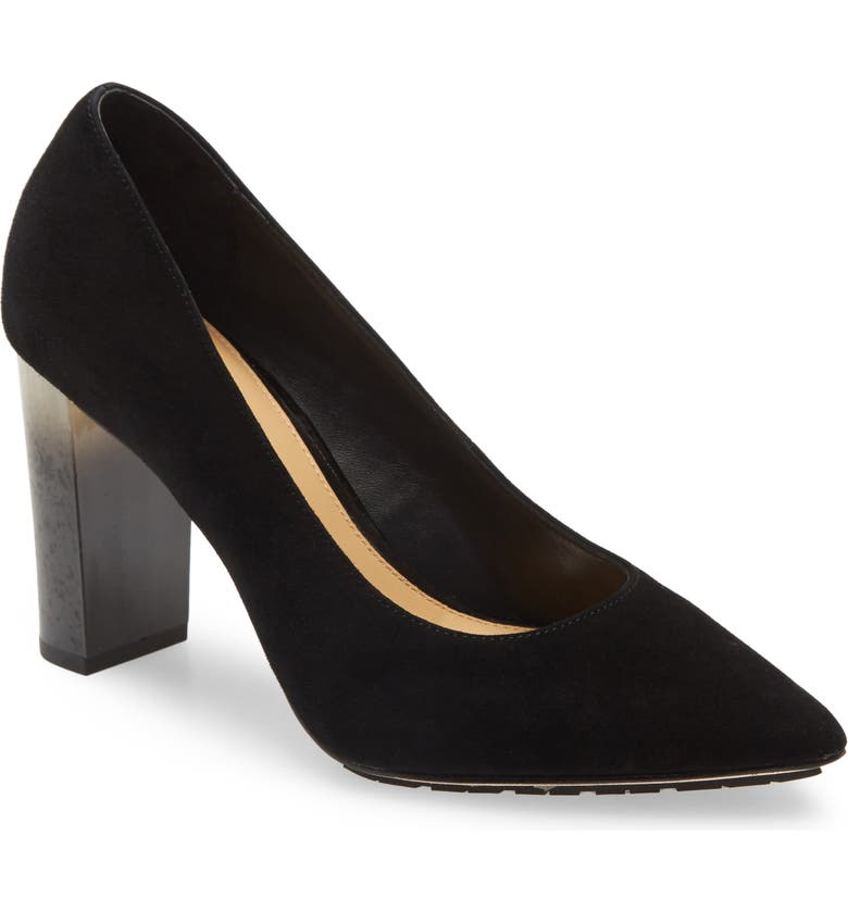 DONALD PLINER Neal Pointed Toe Pump, Main, color, BLACK SUEDE