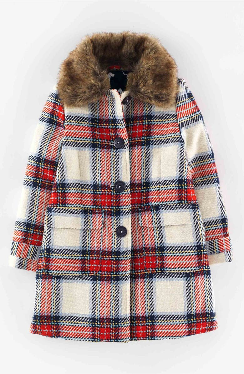 MINI BODEN 'Heritage Check' Peacoat, Main, color, 900